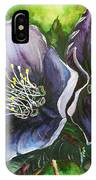 Helleborous Blue Lady IPhone Case