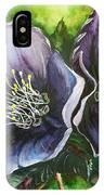 Helleborous Blue Lady IPhone Case