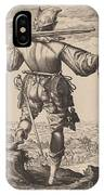 Helmeted Musketeer IPhone Case
