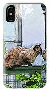 Hemmingway Cats IPhone Case