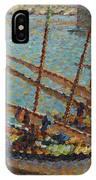 Henri Martin 1860 - 1943 Boats To Collioure IPhone Case