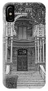 Henry B. Plant Museum Entry Bw IPhone Case
