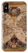 Henry Hondius Seventeenth Century World Map IPhone X Case