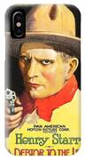 Henry Starr In A Debtor To The Law 1919 IPhone Case
