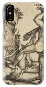 Hercules Killing Cacus At His Cave IPhone Case