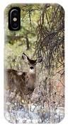 Herd Of Mule Deer In Deep Snow IPhone Case