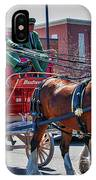 Here Comes The King-budweiser Clydesdales IPhone Case
