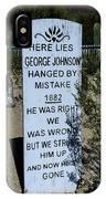 Here Lies George Johnson - Old Tucson Arizona IPhone Case