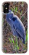 Heron In Marshes IPhone Case