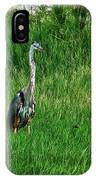 Heron In The Grasses IPhone Case