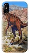Herrarsaurus In Desert IPhone Case