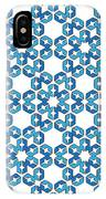 Hexagonal Snowflake Pattern IPhone Case