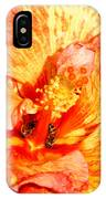 Hibiscus And Bees IPhone Case
