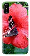 Hibiscus And Butterfly Diners IPhone Case