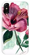 Hibiscus Dusky Rose IPhone Case