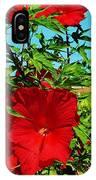 Hibiscus In Naptown IPhone Case