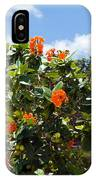 Hibiscus Rosasinensis With Fruit IPhone Case