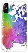 Hibiscus S D Z 2 Cool Rainbow 3 Dimensional IPhone Case