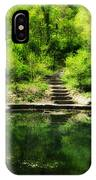 Hidden Pond At Schuylkill Valley Nature Center IPhone Case
