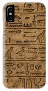 Hieroglyph IPhone Case