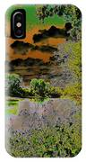 High Contrast River Sunset IPhone Case
