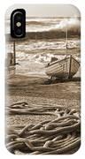 High Tide In Sennen Cove Sepia IPhone Case