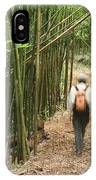 Hiker In Bamboo Forest IPhone Case