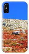Hikers And Autumn Tundra On Mount Yale Colorado IPhone Case