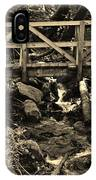 hikers Bridge over the Creek IPhone Case