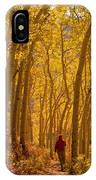 Hiking In Fall Aspens IPhone Case