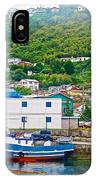 Hillside Along Harbor Near Angelo Fish Market In Puerto Montt-chile  IPhone Case