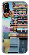 Hindu Deities On Wall Mural Of Sri Senpaga Vinayagar Tamil Temple Ceylon Rd Singapore IPhone Case