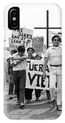 Hispanic Anti-viet Nam War March 1 Tucson Arizona 1971 IPhone Case