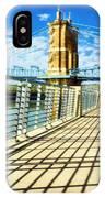 Historic Bridge In Cincinnati IPhone Case by Mel Steinhauer