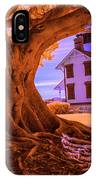 Historic Fermin Point Lighthouse In Infrared IPhone Case
