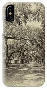 Historic Lane Antique Sepia IPhone Case