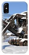 Historic Mining Steam Shovel During Alaska Winter IPhone Case
