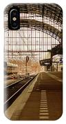 Historic Railway Station In Haarlem The Netherland IPhone Case