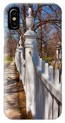 Historic Vermont Fence IPhone Case