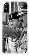 Hitler And Italian Count Ciano Chancellory Berlin 1939 IPhone Case