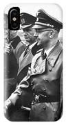 Hitler Shaking Hands With Heinrich Himmler Unknown Date Or Location IPhone Case