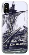 Hms Victory After The Battle Of Trafalgar, With Mizzen Topmast Shot Away IPhone Case