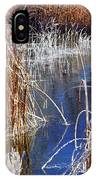 Hoar Frost On Reeds IPhone Case