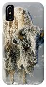 Hoarfrosted Bison In Yellowstone IPhone Case