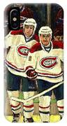 Hockey Art The Habs Fab Four IPhone Case