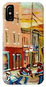 Hockey Game Fairmount And Clark Wilensky's Diner IPhone Case