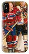 Hockey Stars At The Forum IPhone Case