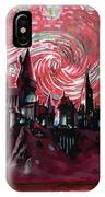 Hogwarts Starry Night In Red IPhone Case
