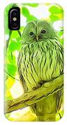 Owl  Watercolor Touch IPhone Case