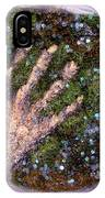 Holding Earth From The Series Our Book Of Common Faith IPhone Case